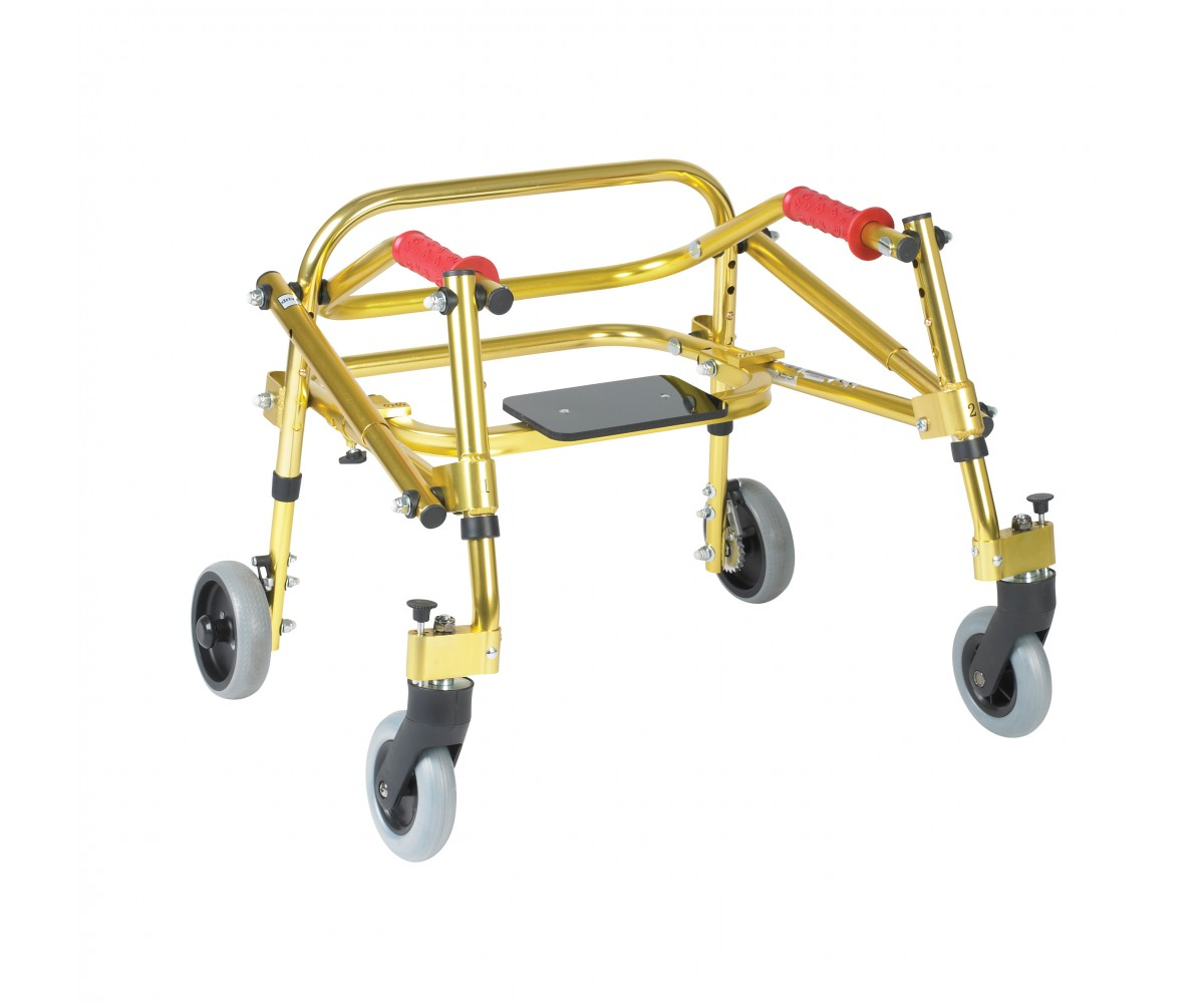 Tyke Nimbo Rehab Lightweight Golden Yellow Posterior Posture Walker with Seat