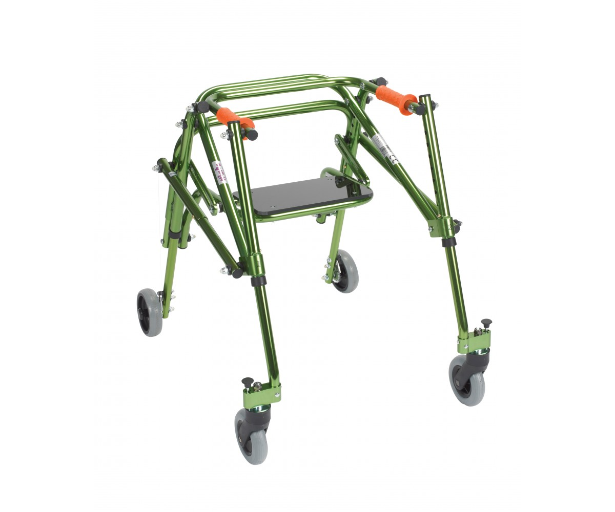 Junior Nimbo Rehab Lightweight Lime Green Posterior Posture Walker with Seat