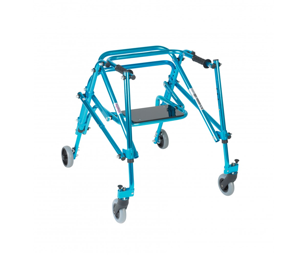 Youth Nimbo Rehab Lightweight Cornflower Blue Posterior Posture Walker with Seat
