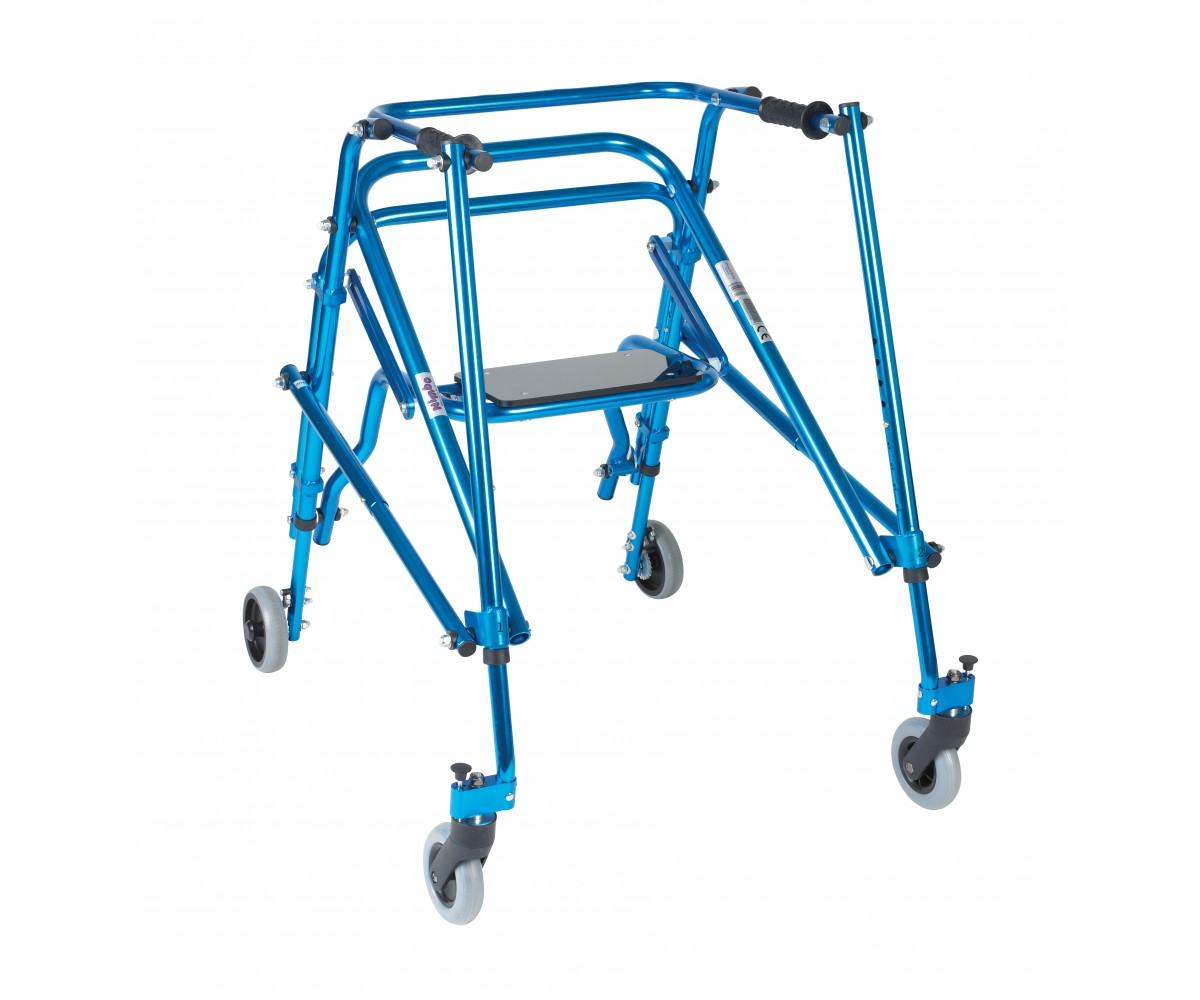 Young Adult Nimbo Rehab Lightweight Midnight Blue Posterior Posture Walker with Seat