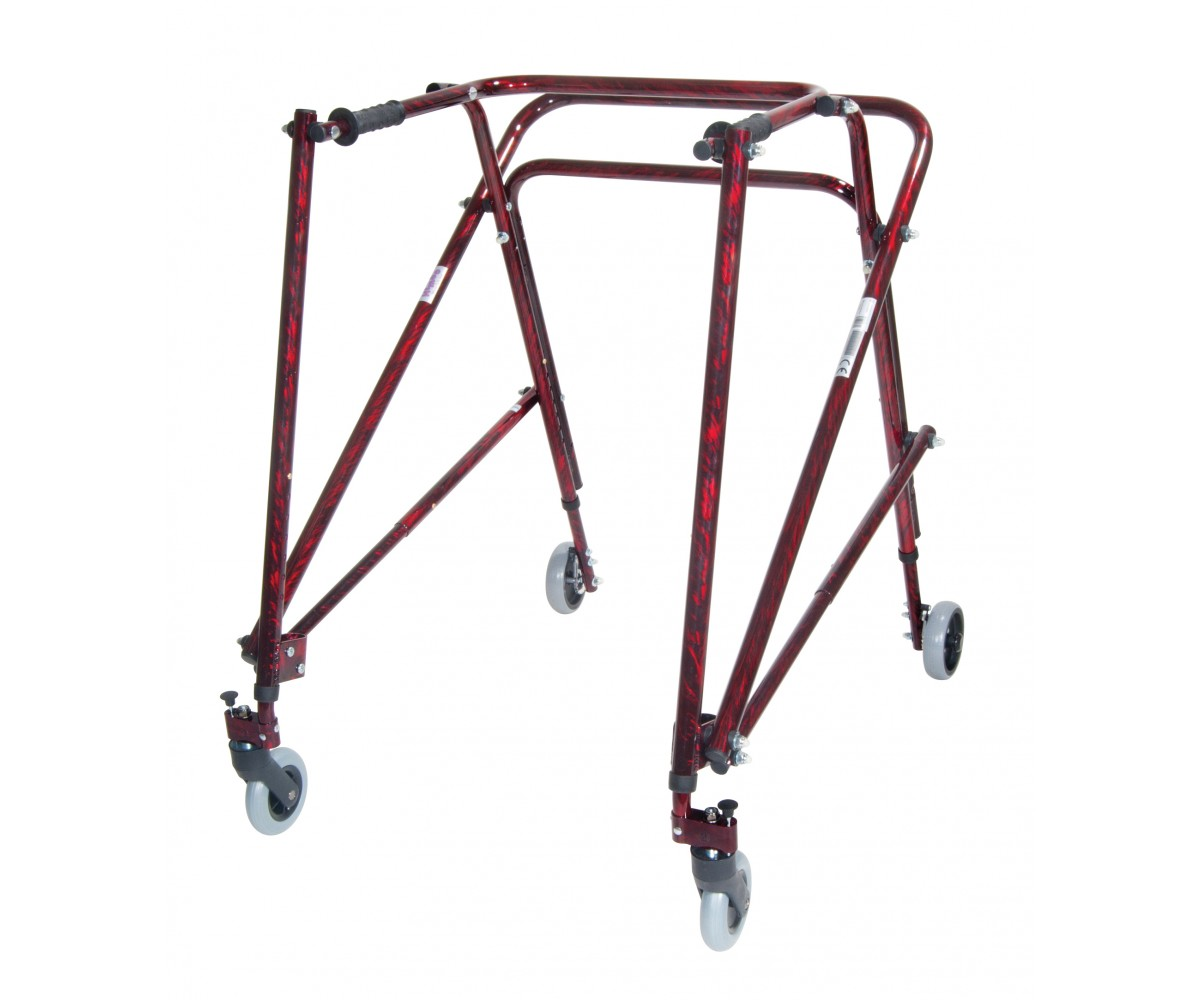 Adult Nimbo Rehab Lightweight Flame Red Posterior Posture Walker