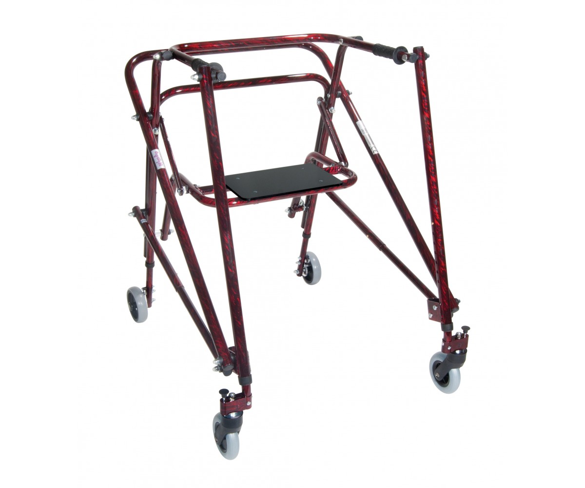 Adult Nimbo Rehab Lightweight Flame Red Posterior Posture Walker with Seat