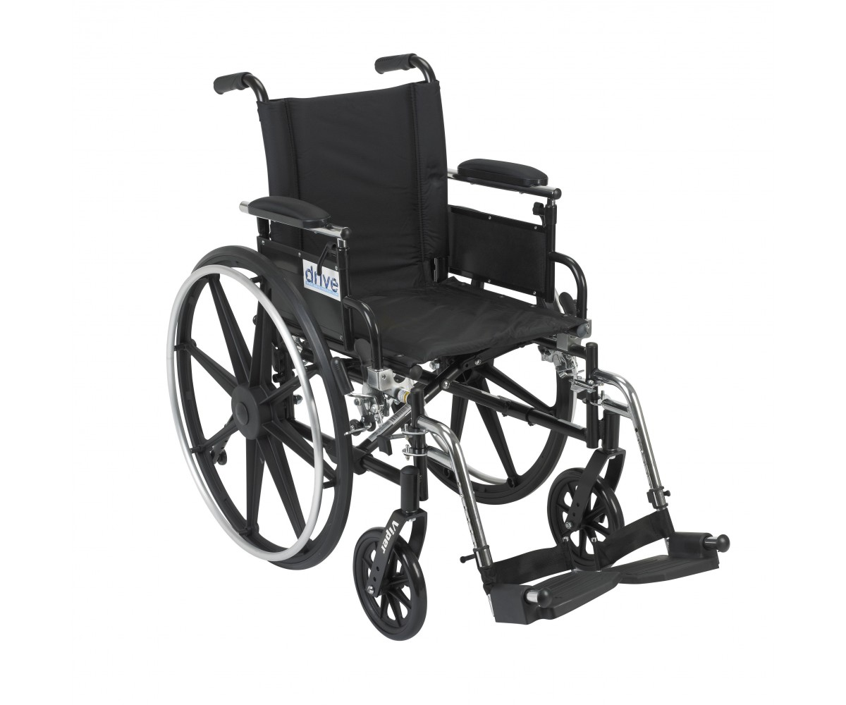 Viper Wheelchair with Flip Back Removable Adjustable Desk Arms and Swing Away Footrest