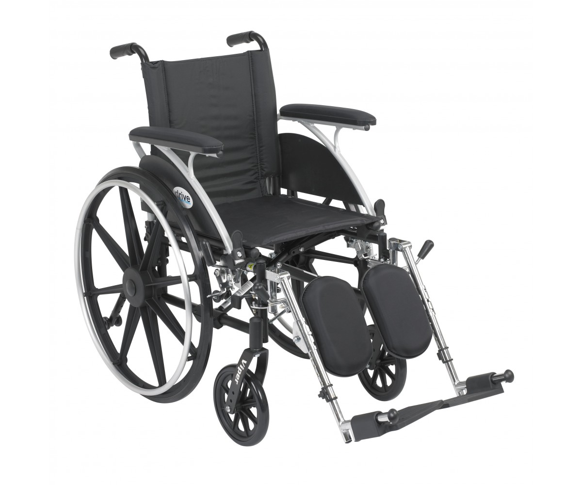 Viper Wheelchair With Flip Back Removable Full Arms And
