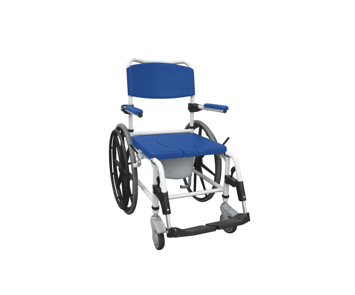 Aluminum Shower Commode Wheelchair