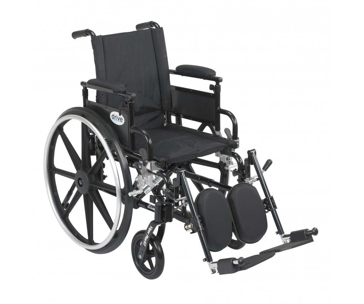 Viper Plus GT Wheelchair with Flip Back Removable Adjustable Desk Arm and Elevating Leg Rest