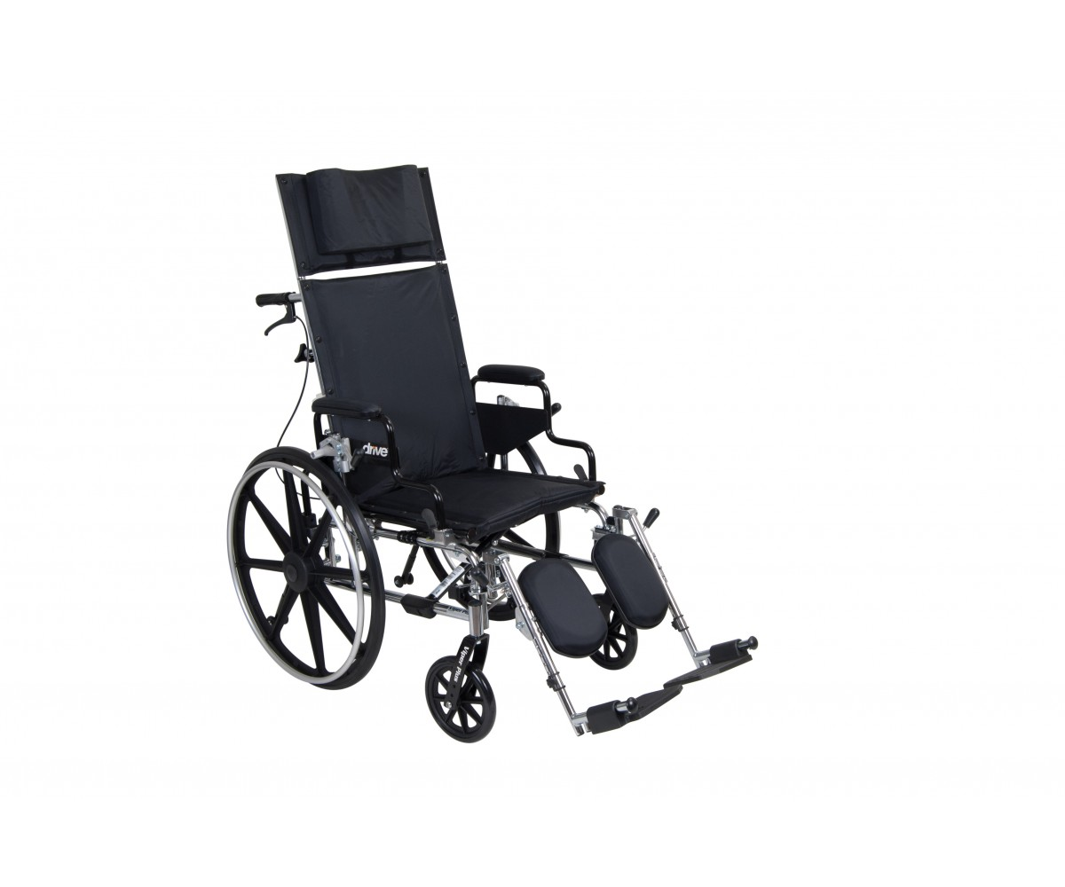 "Viper Plus GT 16"" Reclining Wheelchair with Desk Arms"