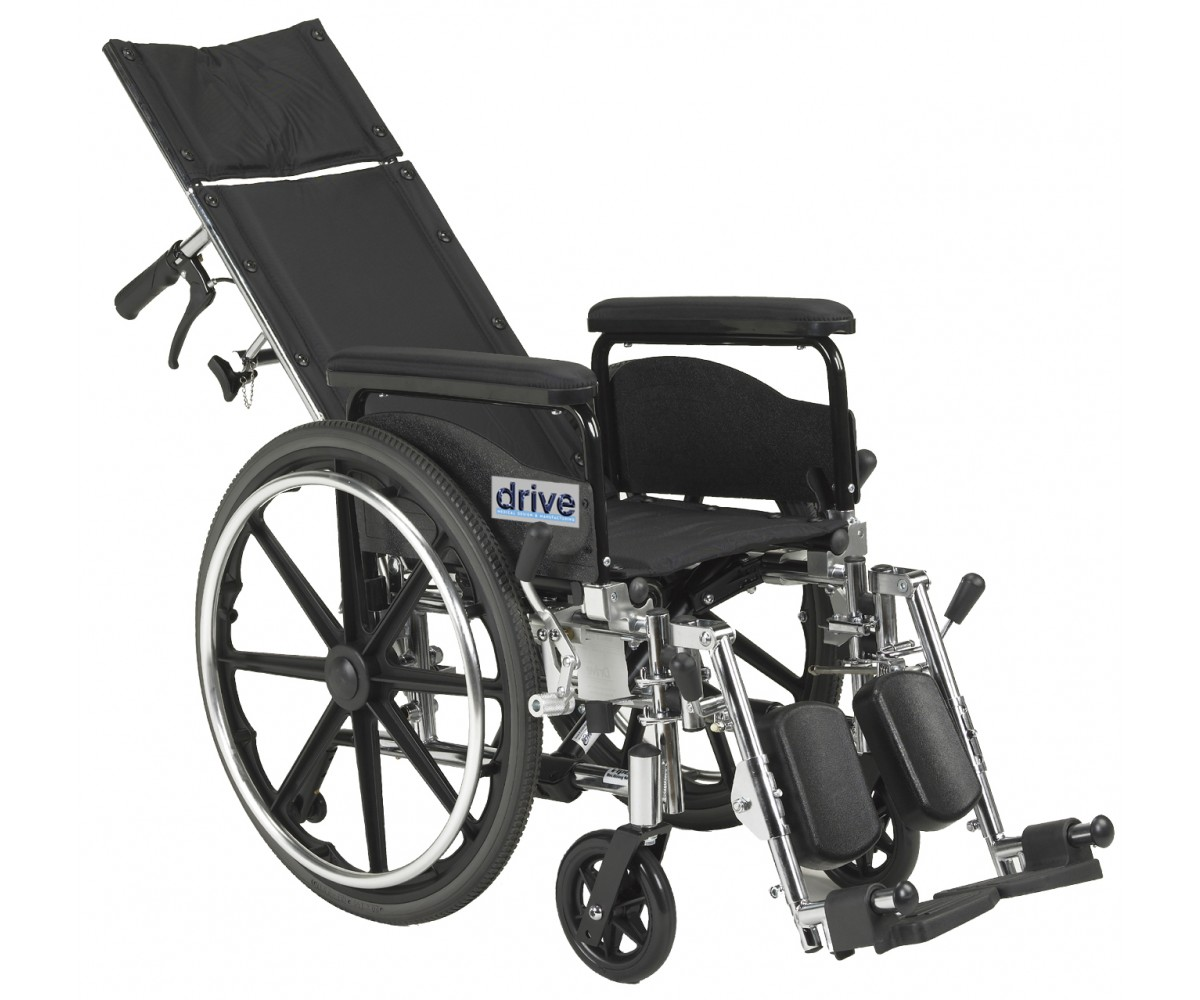 "Viper Plus GT 18"" Reclining Wheelchair with Full Arms"