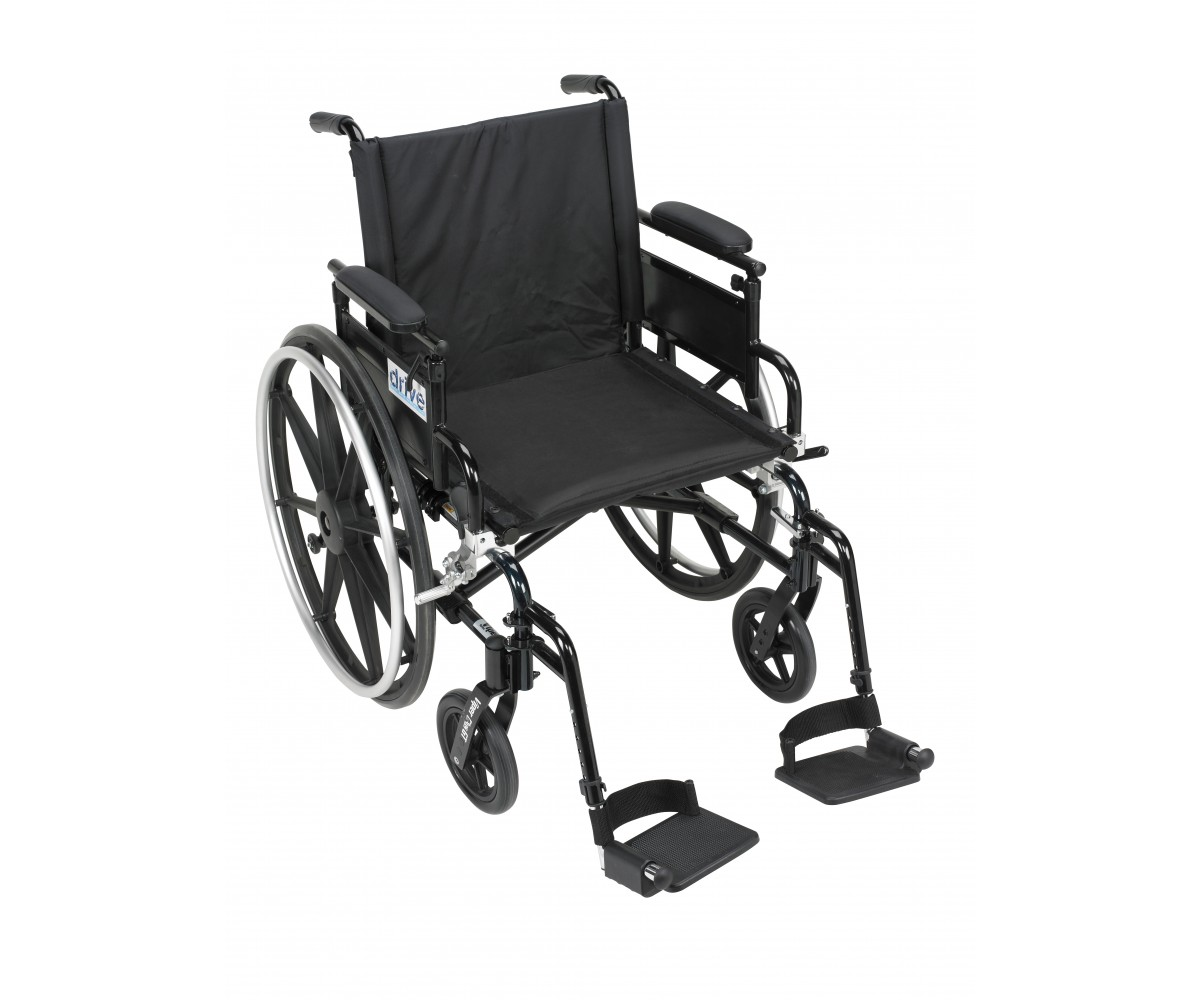 Viper Plus GT Wheelchair with Flip Back Removable Adjustable Desk Arm and Swing Away Footrest