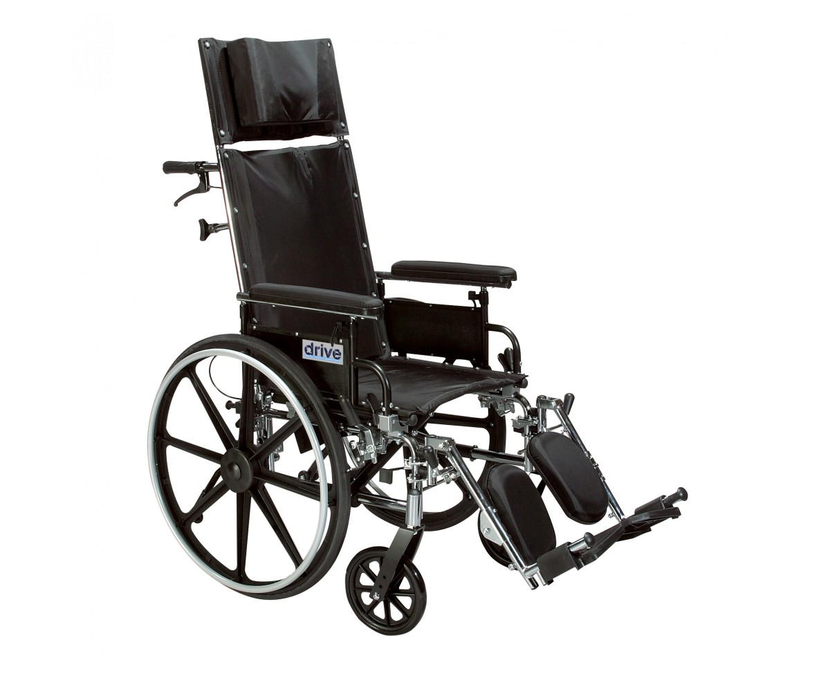 "Viper Plus GT 20"" Reclining Wheelchair with Detachable Desk Arms"