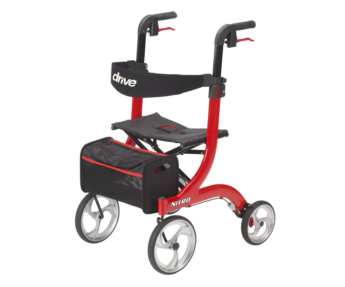 Nitro Euro Style Red Rollator Walker