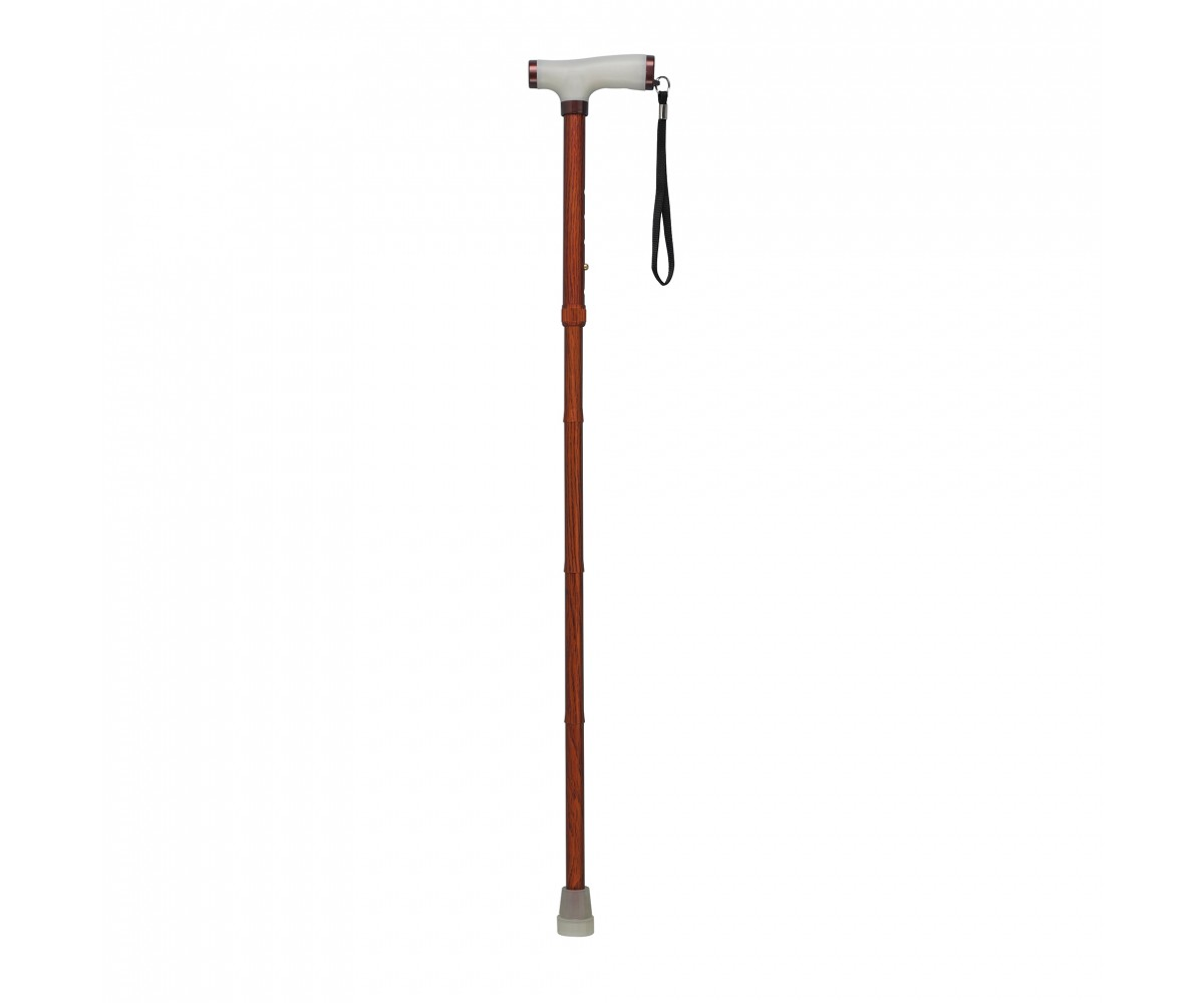 Wood Colored Folding Canes with Glow Gel Grip Handle