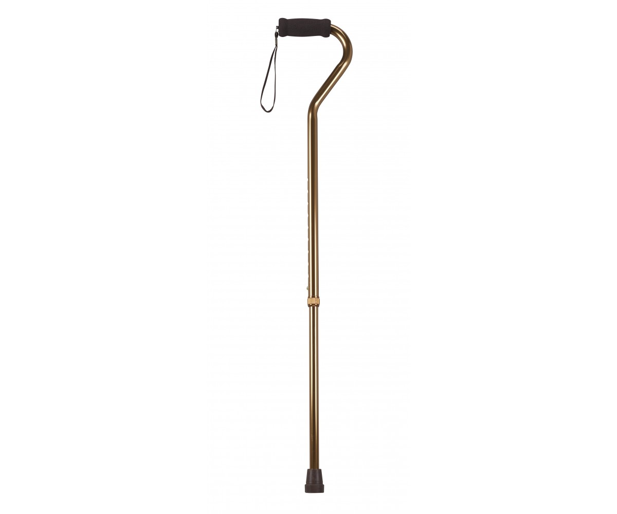 Foam Grip Offset Handle Bronze Walking Cane