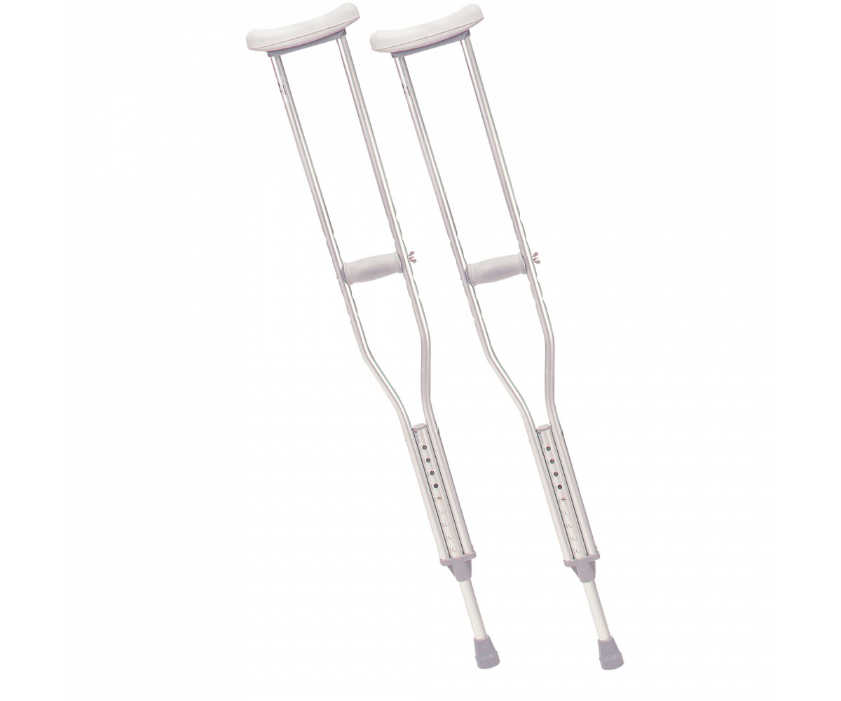Tall Adult Walking Crutches with Underarm Pad and Handgrip