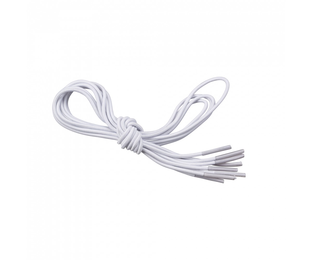 White Elastic Shoe and Sneaker Laces