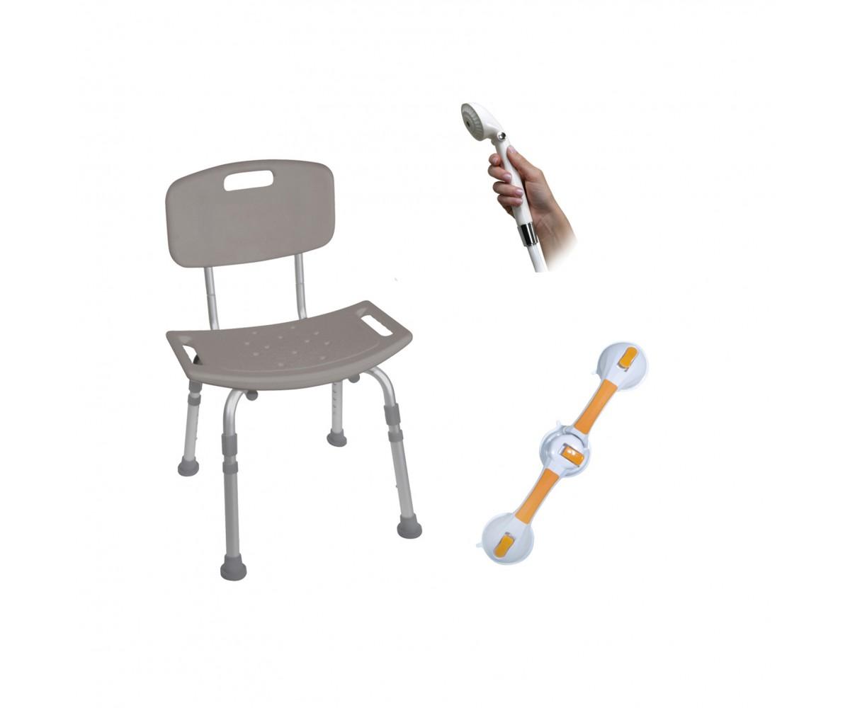 Shower Tub Chair Grab Bar Safety Bundle