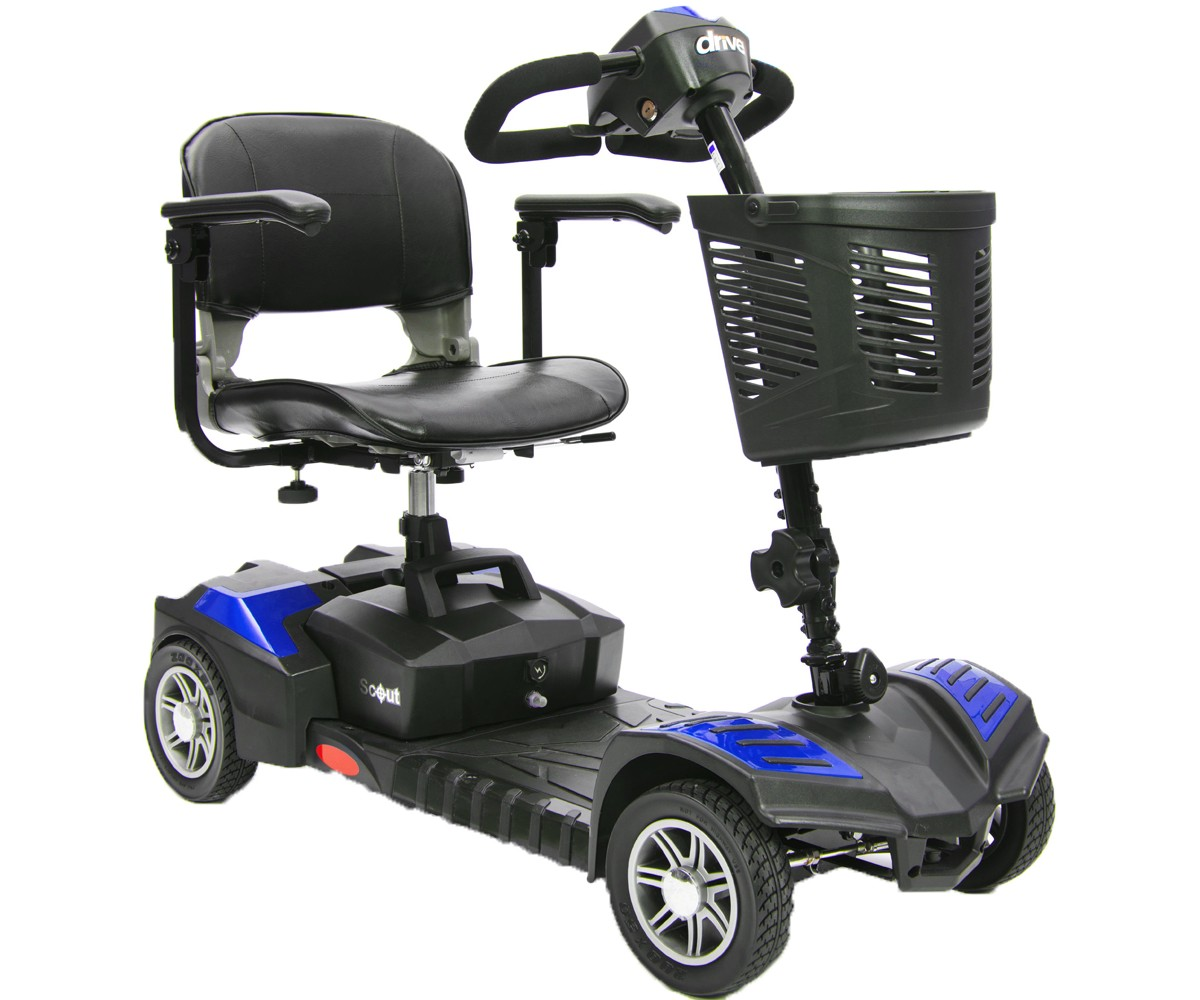Spitfire Scout DLX 4 Wheel Compact Travel Scooter