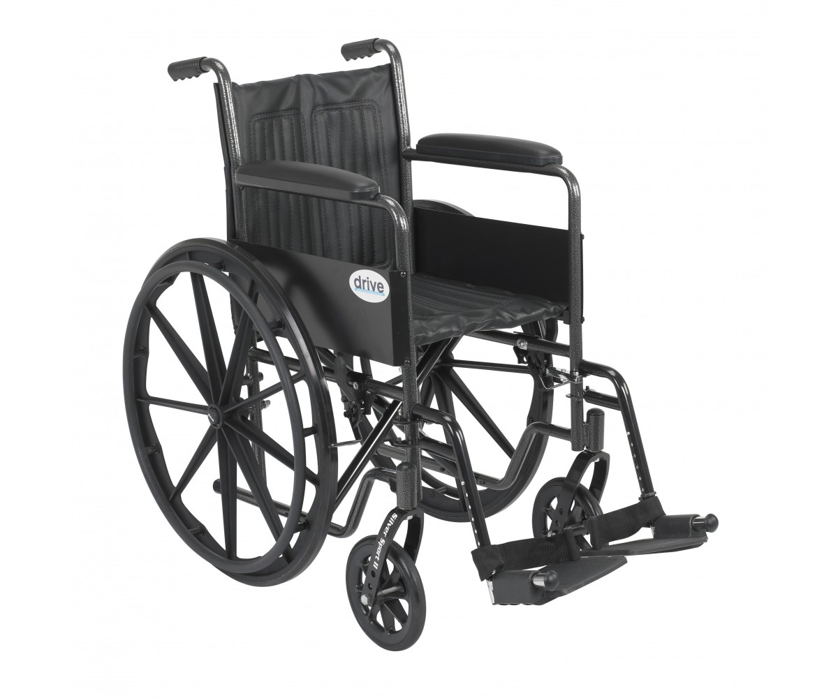 Silver Sport 2 Wheelchair with Swing Away Footrest