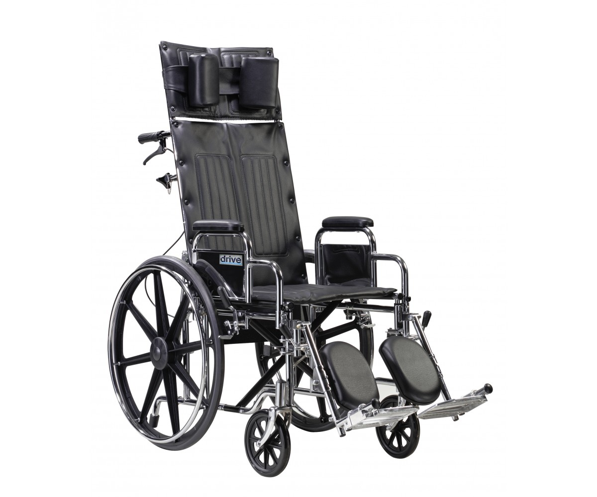 Sentra Reclining Wheelchair with Detachable Desk Arms