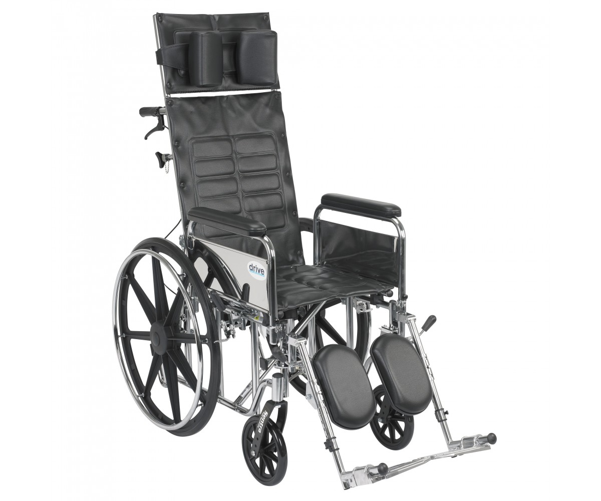 Sentra Reclining Wheelchair with Detachable Full Arms