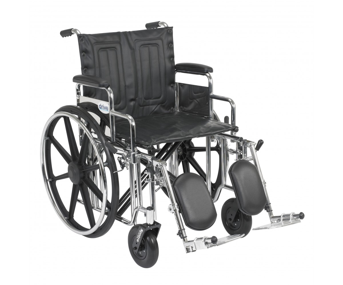 Sentra Extra Heavy Duty Wheelchair with Detachable Desk Arms and Elevating Leg Rest