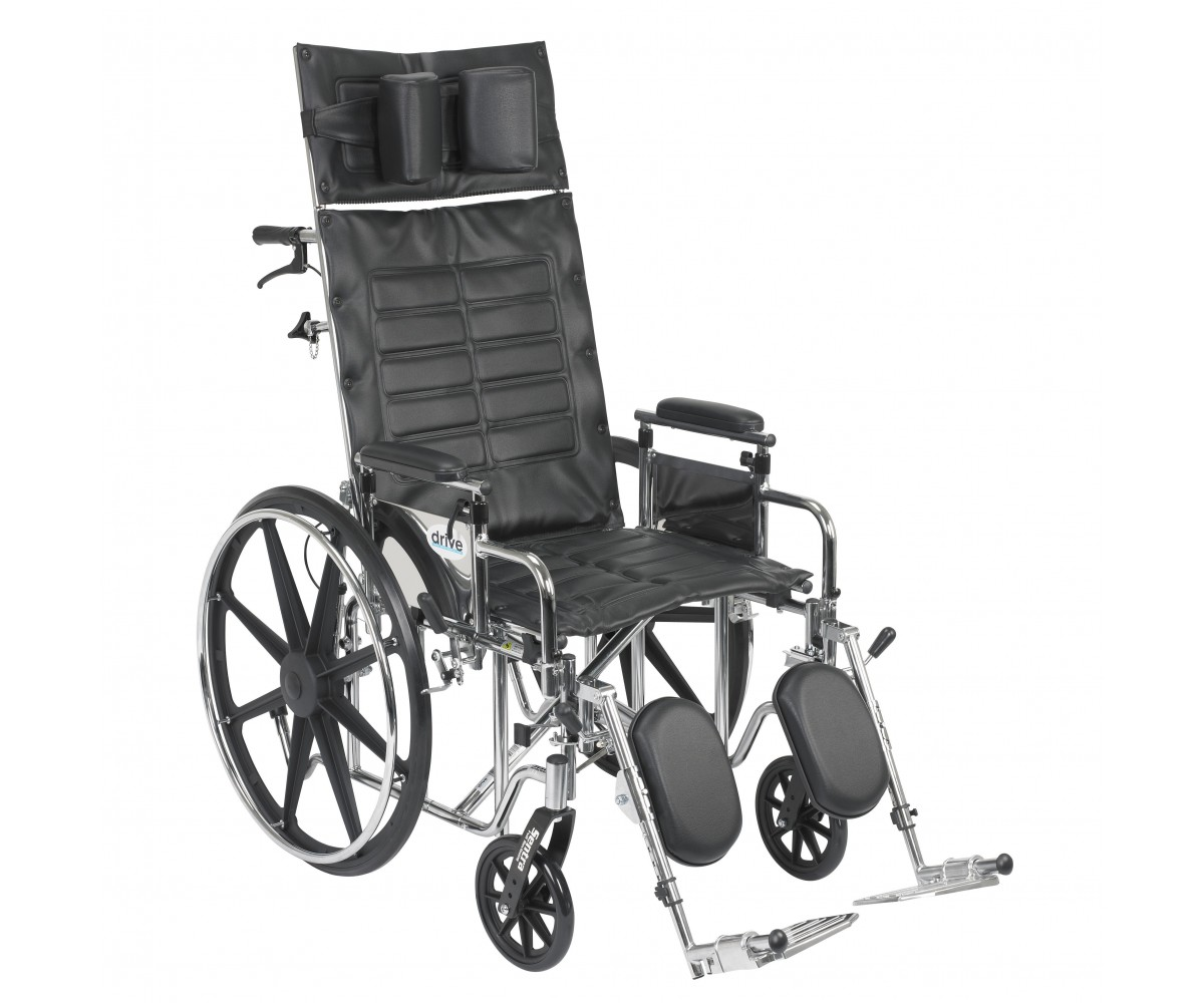 Sentra Reclining Wheelchair with Detachable Adjustable Desk Arms