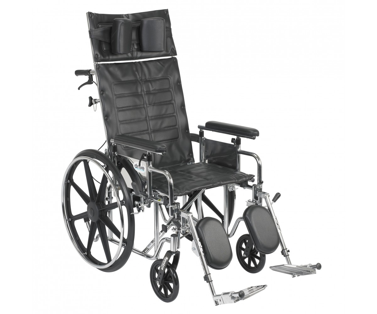 Sentra Reclining Wheelchair with Detachable Adjustable Full Arms