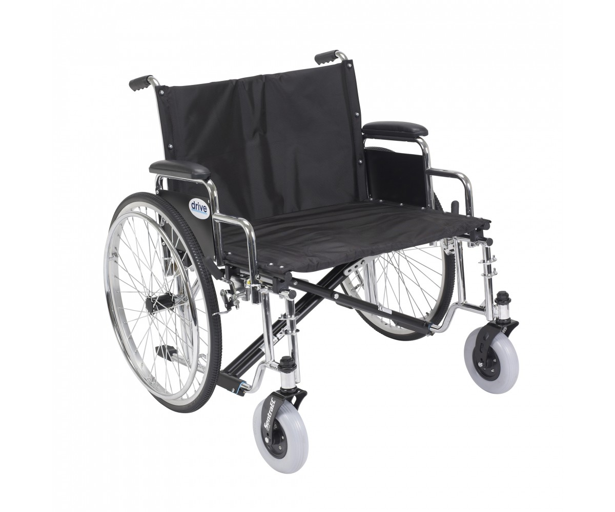 Sentra EC Heavy Duty Extra Wide Wheelchair with Detachable Desk Arms