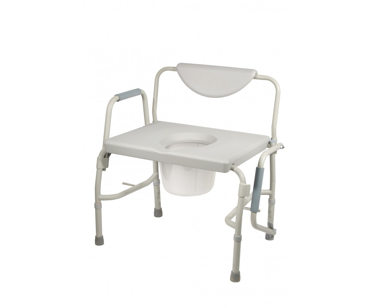 Bariatric Drop Arm Bedside Commode Chair