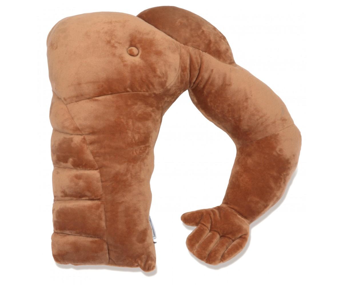 White Boyfriend Muscle Man Pillow