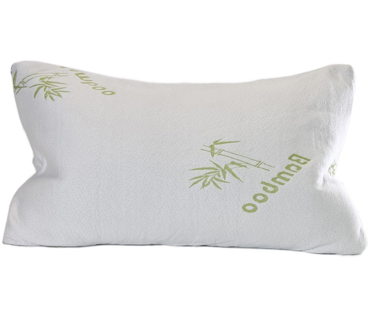 Premium Crushed Memory Foam Bamboo Pillow Queen