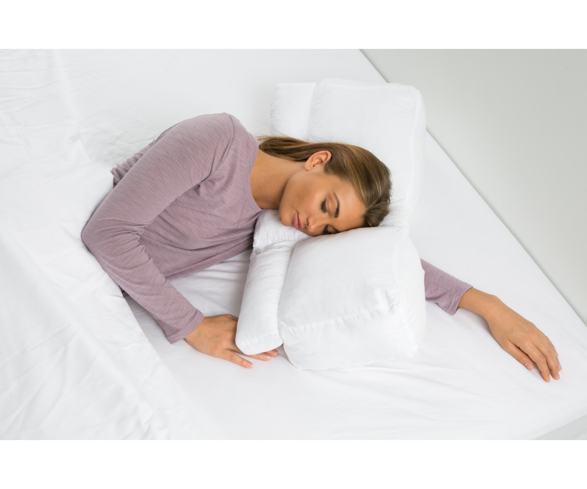 Arm Tunnel  Luxury White Goose Down Pillow