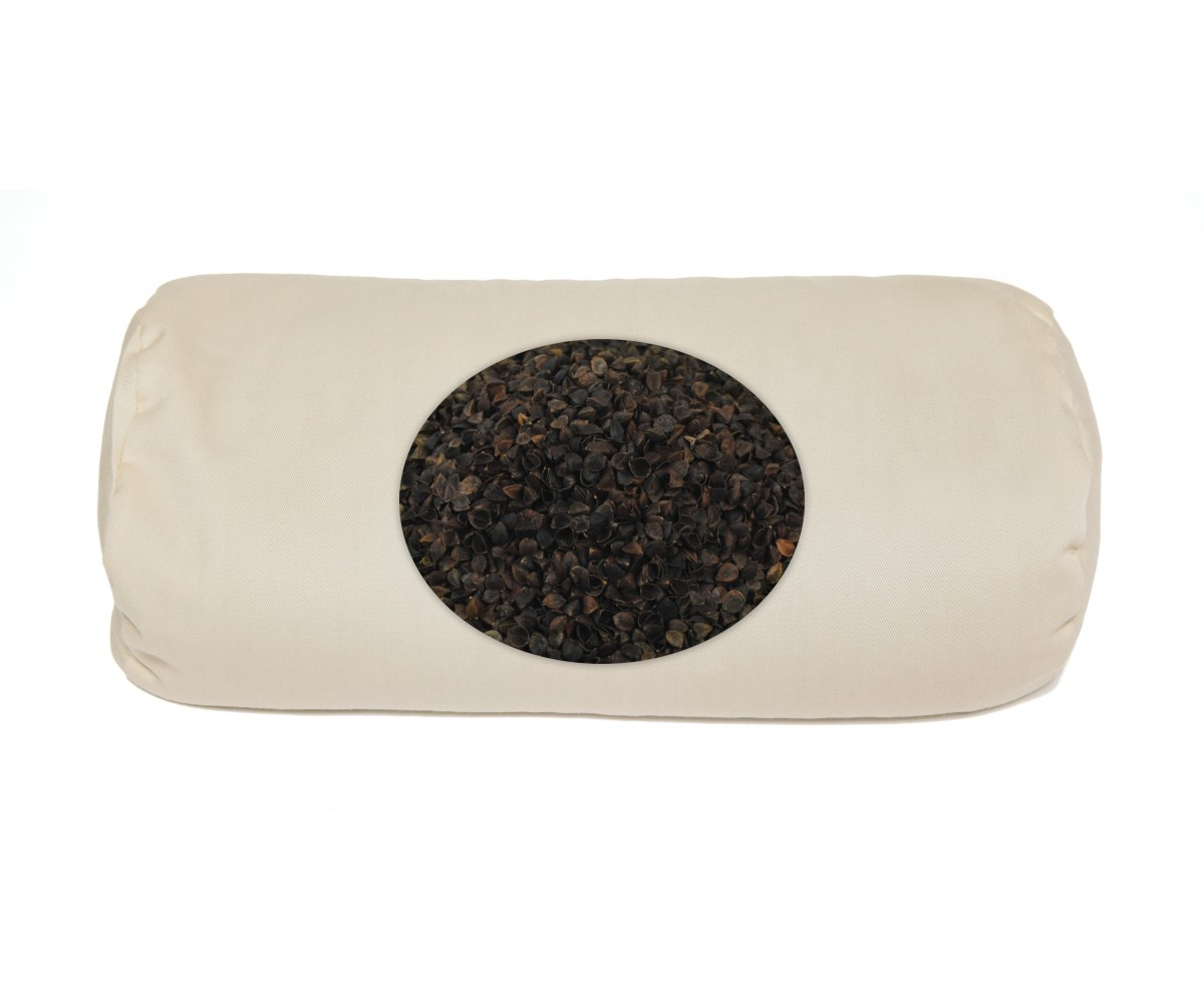 Buckwheat  Neck Roll Pillow - Buckwheat bolster