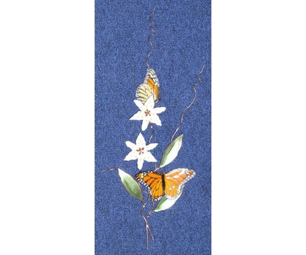 Wall Art Sculpture-monarch Butterflies With Tiger Lilies