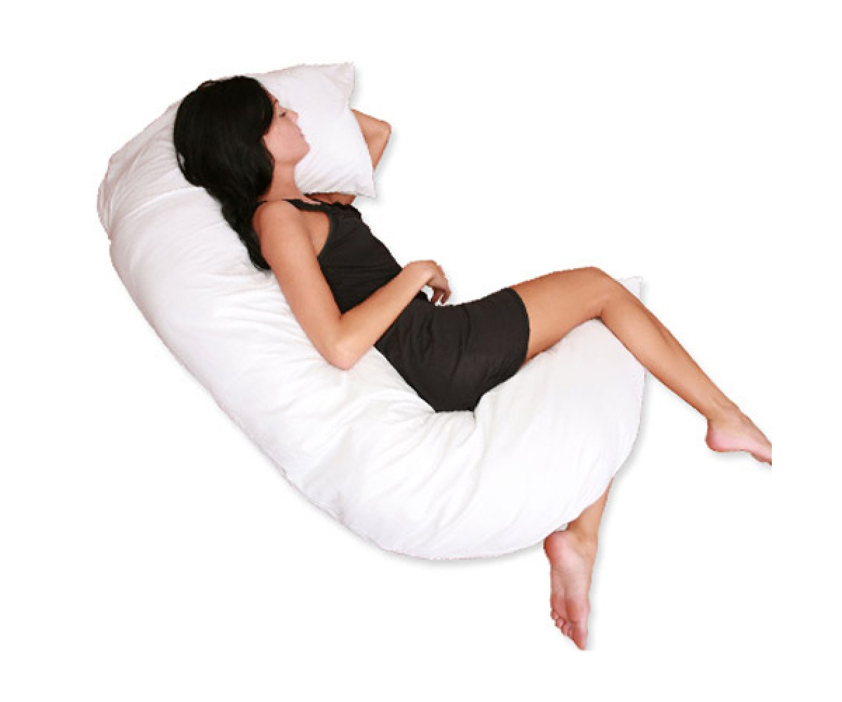 Deluxe Comfort C Shaped Full Body Pillow Total Body Length