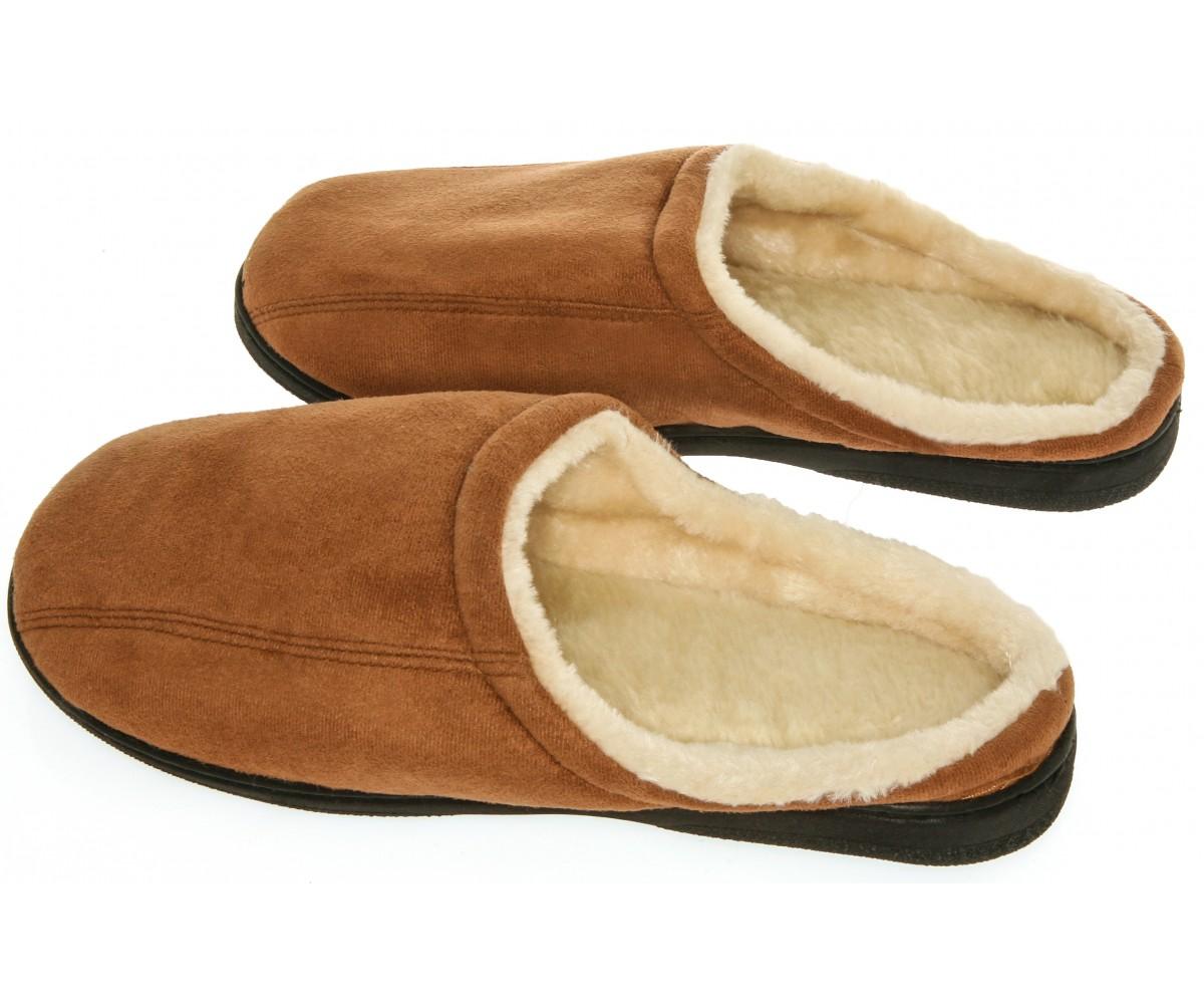 memory foam Slippers - Camel Suede