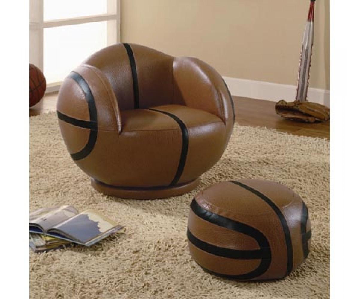 Kids Furniture Basketball Chair And Ottoman