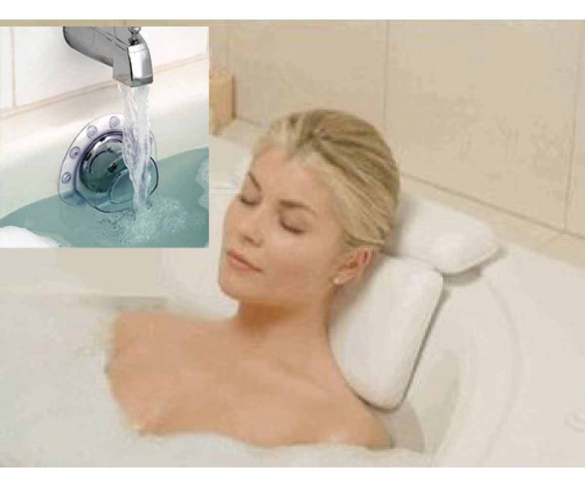 Neck Spa Bath Pillow With Deep Water Bat