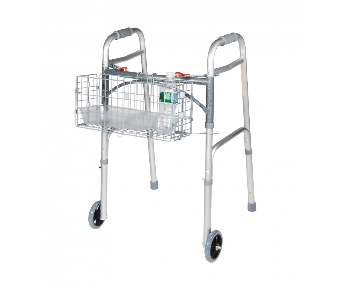 Folding Basket, for use with most manufacturers walkers.