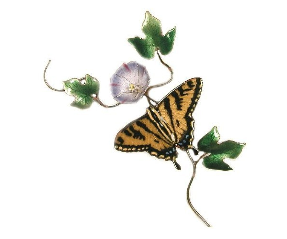 Bovano Enamel Home Wall Art Tiger Swallowtail Butterfly