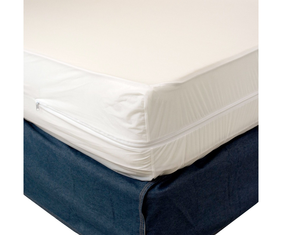 Twin Zippered Plastic Mattress Protector