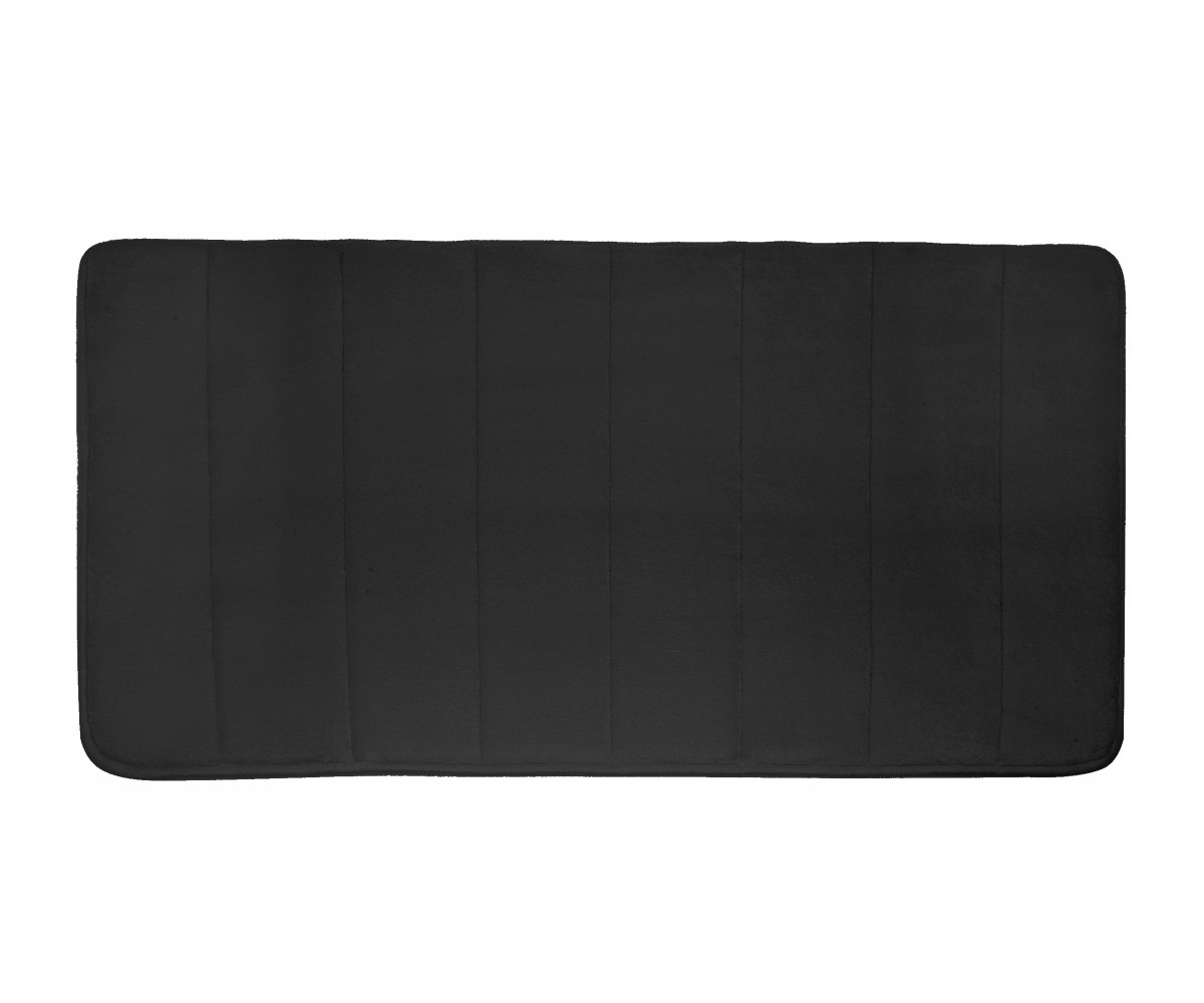 Microfiber Absorbing Bath Mat - Black