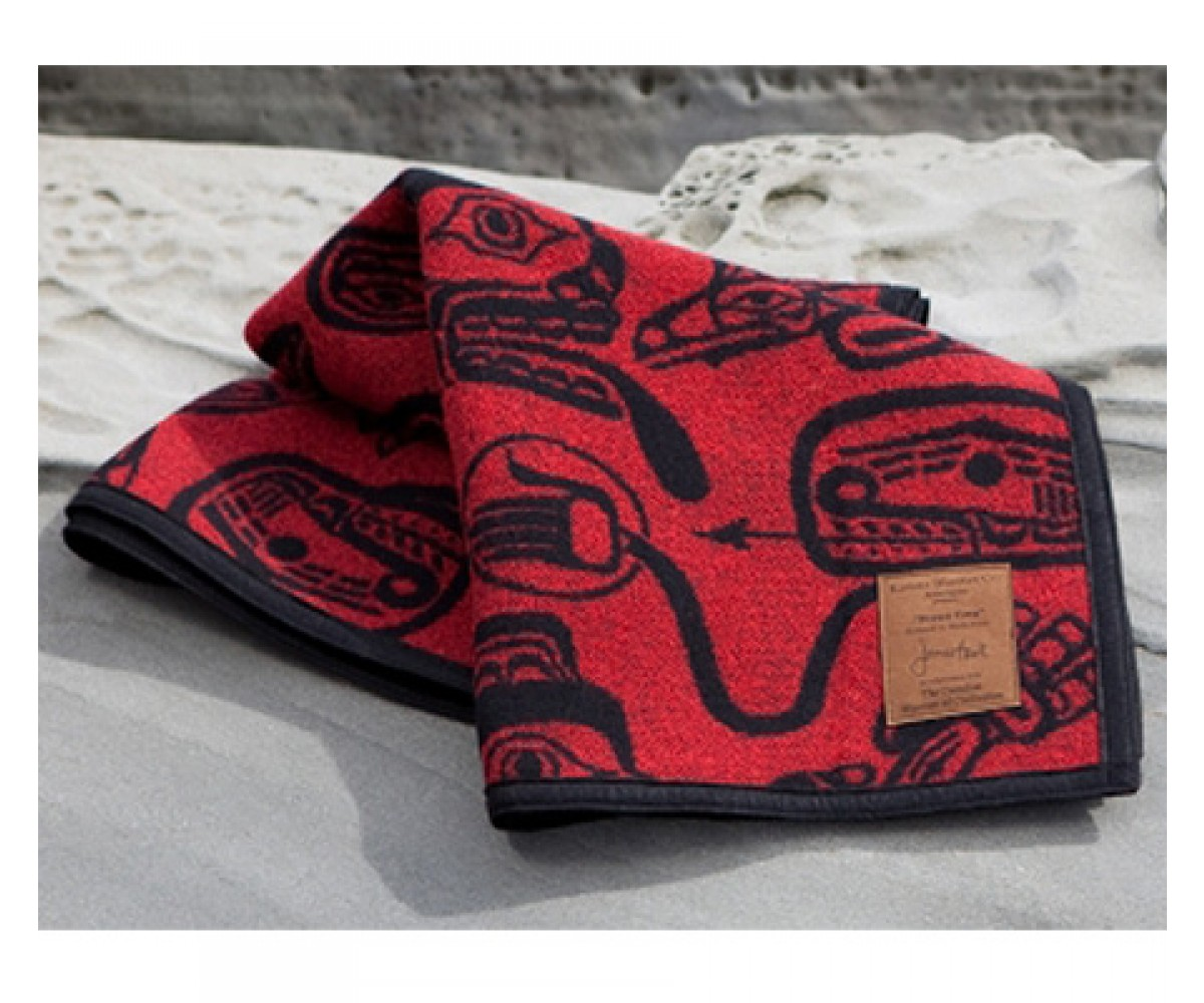 James Hart Haida Dreamtime Wool Blanket