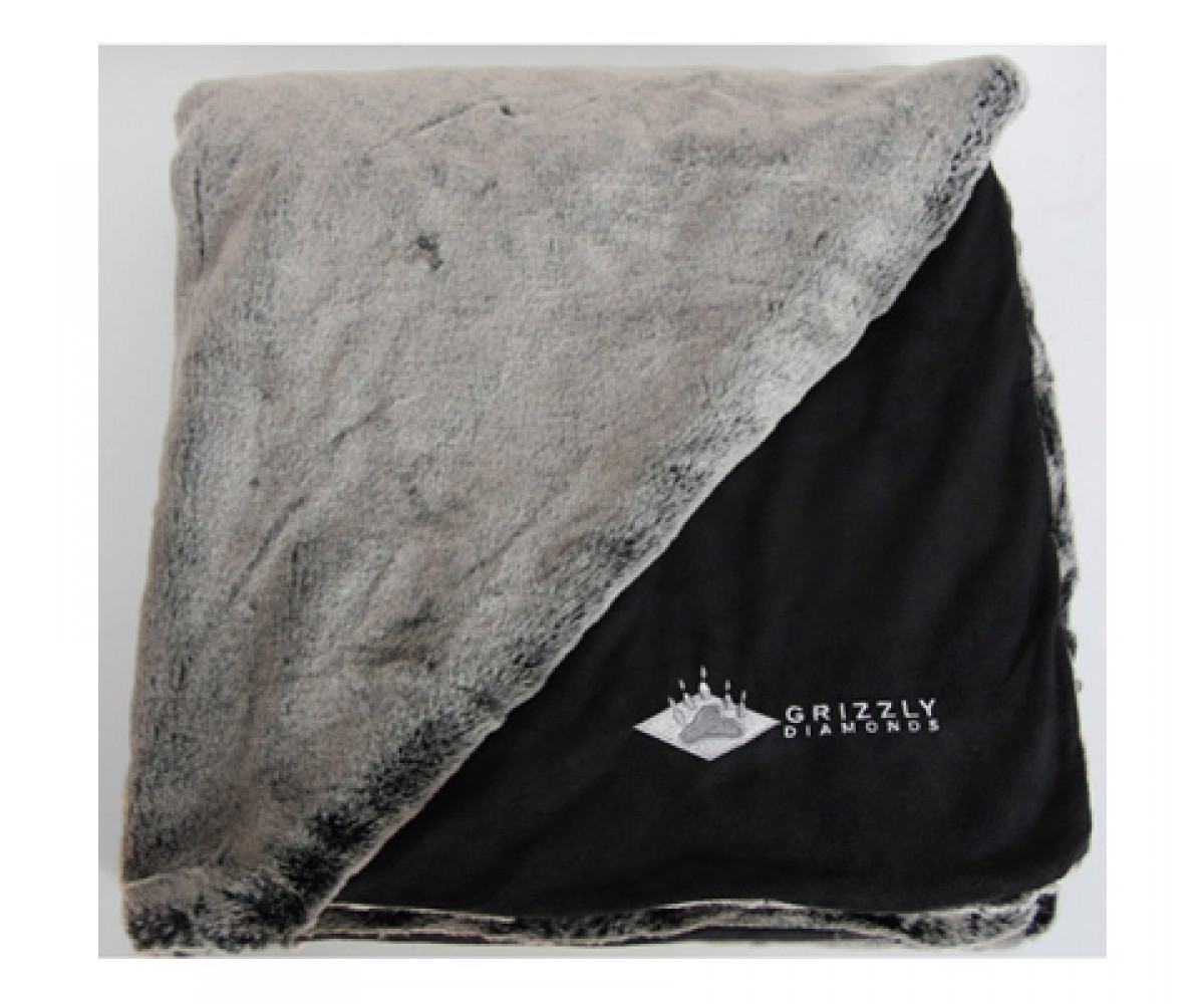 Timberwolf Faux Fur Throw - Couch Throw, Afghan Throw, Soft Throw Blanket