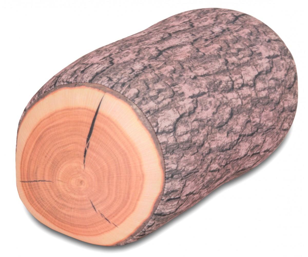 Log Pillow MicroBead Wooden Log Pillow Cushion