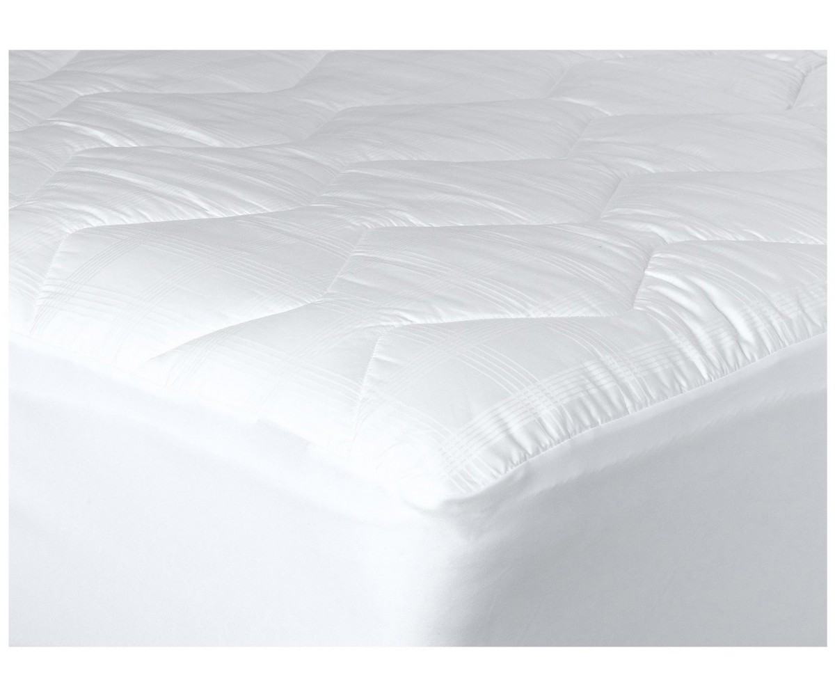 370-Thread Count Jacquard Mercerized Quilted Mattress Pad