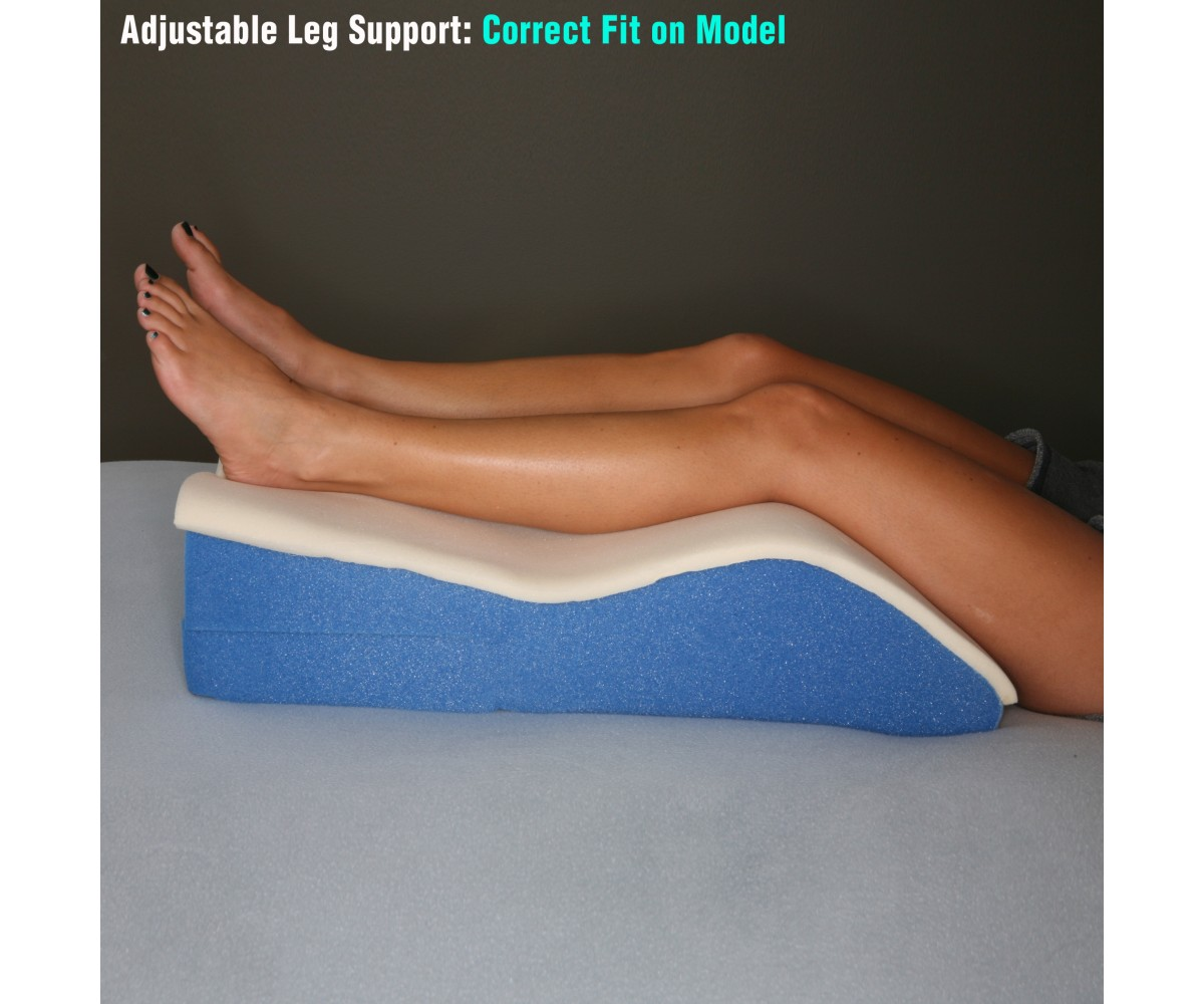 Adjustable Memory Foam Leg Wedge Position-er Pillow Leg Elevator