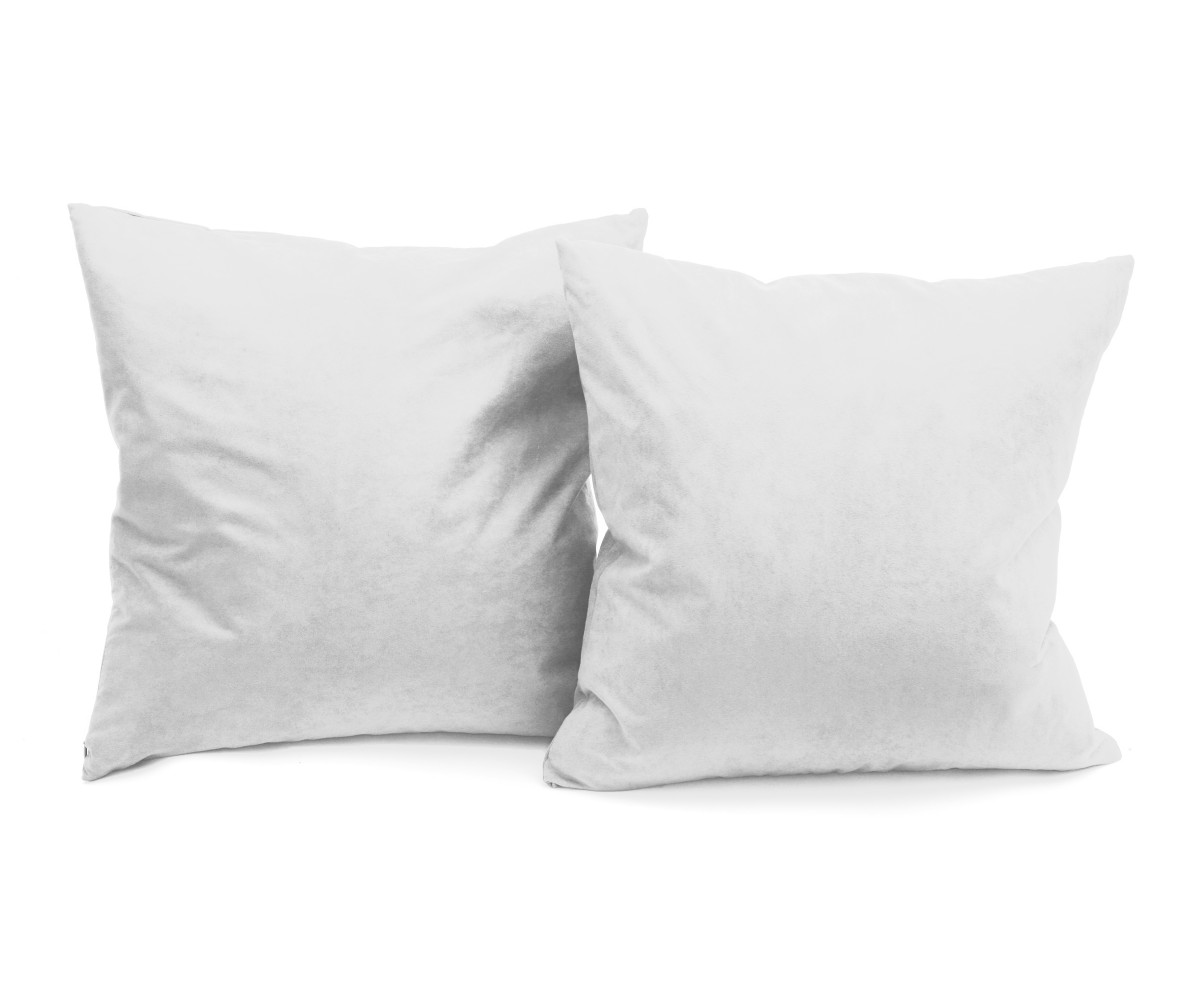Microsuede Deco Pillow - 18x18 - Feather And Down Filled Pillows - Pack of 2 - Grey