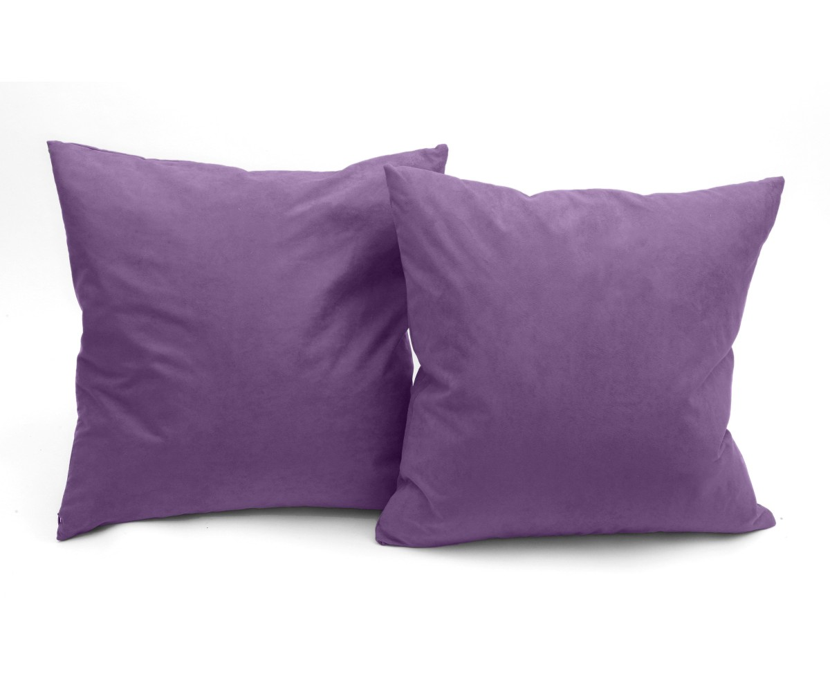 Microsuede Deco Pillow - 18x18 - Feather And Down Filled Pillows - Pack of 2 - Light Purple