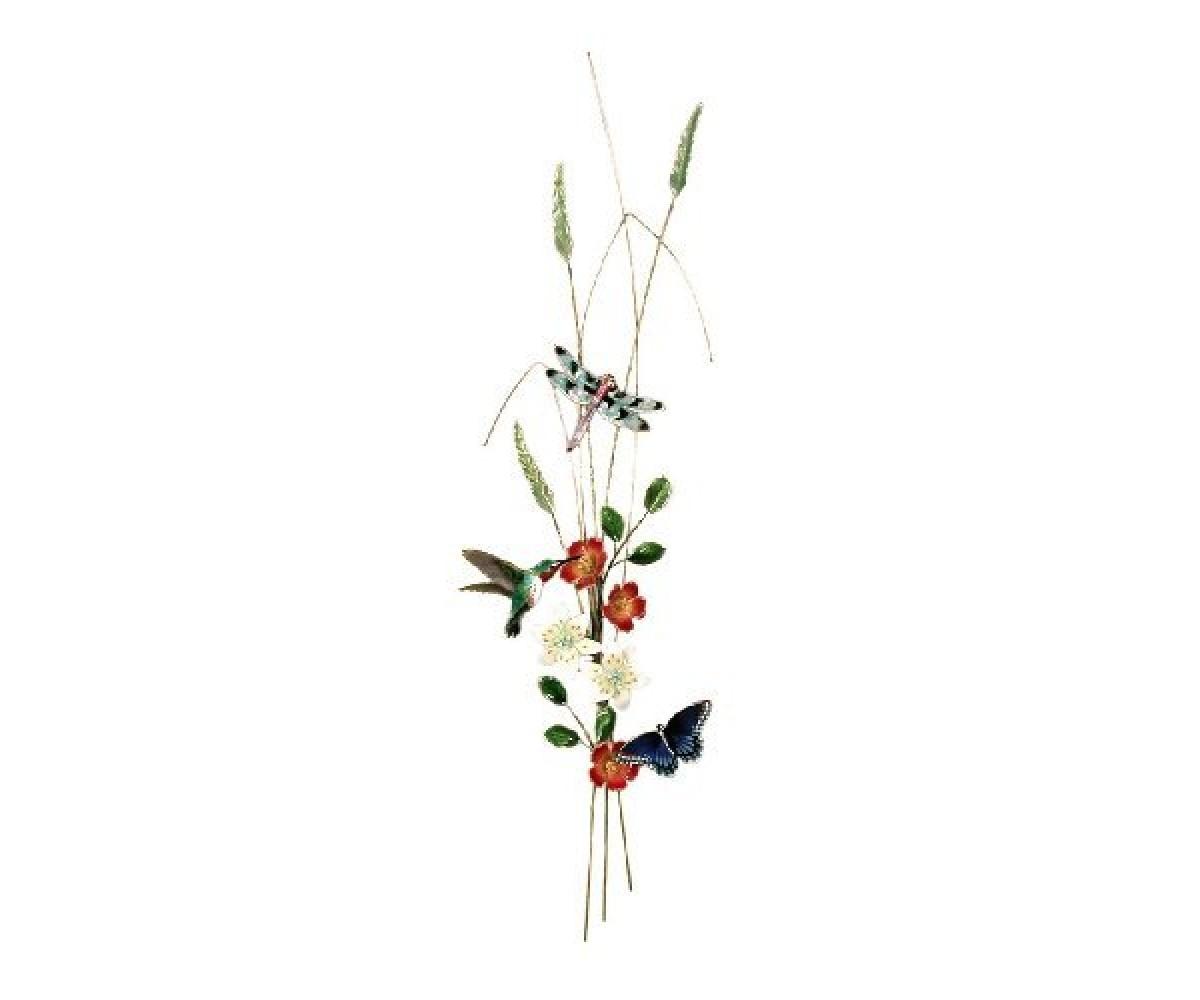Bovano Enamel Wall Art Hummingbird Dragonfly Butterfly